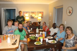 Julian, Nicole and the Mitchell family joined us at our table for their last night at ALCamp.