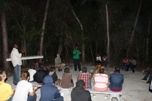 Our first Friday back on the island we were able to participate in the monthly youth outreach at Camp. Our own Moya led us all in a time of singing.