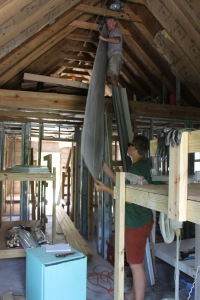 This past week Tim, Zachary and RJ worked to get things out of the unfinished cottage.