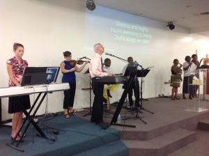 Sunday morning, June 22nd was the Buntings last Sunday at Kingdom Life Church.  It was a sad day for us; grief compounded by the fact that we had already had so many painful good-byes that month.  The worship team sure misses the Buntings.