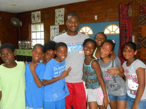 Huram loved being a camp counselor, and the campers loved him!
