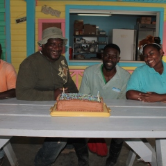 Celebrating the February staff birthdays: Celavia, Sean, Odissa, and Tika.
