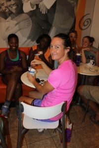 Sunday, August 31st was Jen Roger's birthday.  We all gathered to celebrate with her at one of our favorite places...