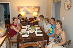 First meal with the new facilitators that are living here at Camp.  Taco night!