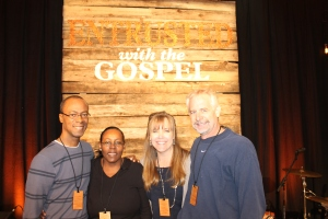 At the Sovereign Grace Minisries Pastor's Conference in Nashville, Tennessee with our pastor, Cedric Moss and his wife Alexine.