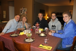 On Friday evening, we had dinner at Lyall and Julie Mix's house.  We met a couple of their children.  Lyall is assistant pastor at West London Alliance church.