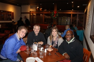 We met up with Julian Williams Monday evening.  Julian has been to Nassau to visit us.  It was fun seeing him in Toronto.