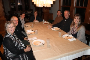 Tuesday we flew from Toronto to Chicago.  We had dinner at Lee and Stacie Burtelson's house.  We met with another early ALC&C board member, Paul Hadley and his wife and daughter in law.