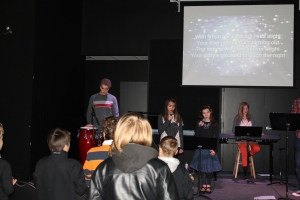 On Sunday morning we attended West London Alliance church.  Zachary helped by playing in their youth worship band.