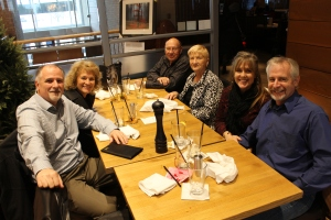 We had Sunday lunch with Lyall and Julie.
