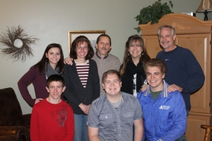Time with our pastor and his family: Rich, Karen, Kellyn and Ethan Maurer.