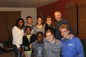 Time with the Eisermann family: Chris, Sheila, Chloe, Kinza and Jacob.