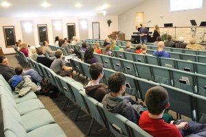 We provided an update of the ministry work with our sending church.