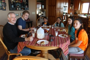 Thursday morning we were hosted by the Beck children.  We love staying with this awesome family.