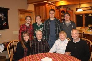 Family picture with Grandma and Grandpa.