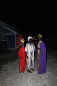Donkeys are first greeted by our wise men who act as ushers to keep the donkeys moving.