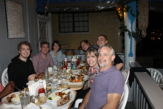 Lee Burtelson took us and Mark Wallace and Cranston Knowles out for dinner at the Poop Deck.