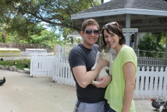 We introduced Andrew and Katie to the Centre, and they met Felix the cat (they love cats).