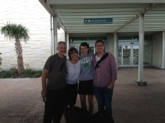 ...before taking Andrew and Katie to the airport to start the painful good-bye process.