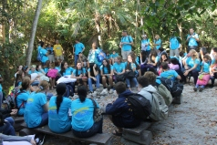 ...and welcomed Calvary Christian Academy 8th Grade group 1. The 97 8th graders and their leaders were on a mission trip in the Bahamas.