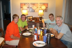 We welcomed Pat and Janice to the island with dinner at our house.