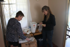 Megan was on the West London Alliance Church mission team. She is a nurse and helped me arrange medications in the nurse cabinet in the camp office.