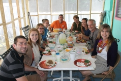 On Sunday, we had the gang over for Tacos after church. It is so nice having room to spread out!