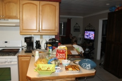 Super bowl party at the Seeley's house (the only place with a television).