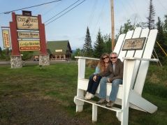Our hike around the resort brought us to these really cool Adirondack Chairs.
