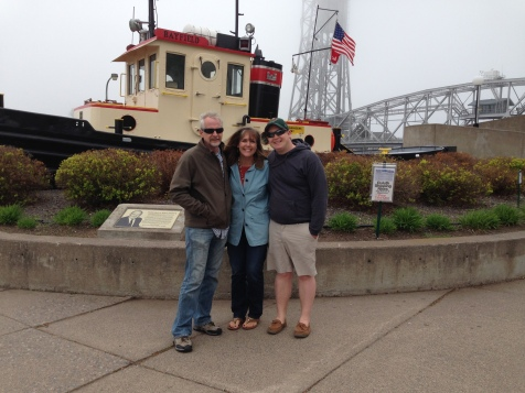 ...arrived in very chilly, foggy Duluth.