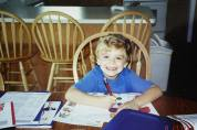 First day of homeschool 2003