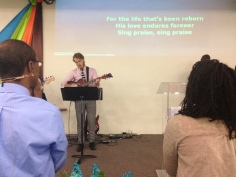 Logan helped with worship at our church. It was good see him back on stage!