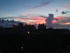 Beautiful sunset from our balcony!