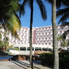 Our room was the top floor just to the right of the center palm tree.