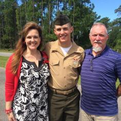 The proud parents of a United States Marine.