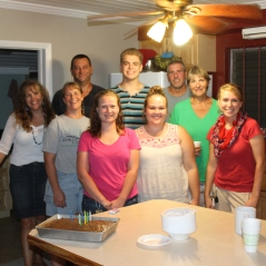 The staff joined us for cake to celebrate Zachary's 17th birthday