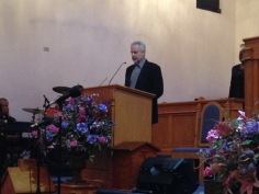 Tim read the Tribute to Sean from Tim Hildebrand, the man who led Sean to the Lord.