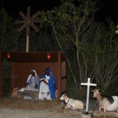 The manger scene.