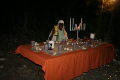 Jesus inviting all to partake of the last supper.