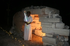The angel proclaiming the tomb is empty. Jesus is alive!