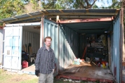 Aaron's first big project is cleaning out the storage trailers at camp to organize and make a place to store tools.