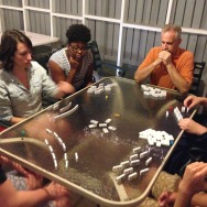Dominoes with the ALC on-site missionary staff.