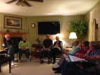 Small group Bible Study at Mindy's parent's house