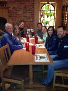 Dinner with two of the pastors leading the team and their wives.