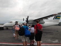 We boarded a plane to Great Exuma at 720am (only 1 hour late).