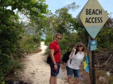 We visited our first Exuma beach.