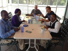 Periodically we have the College of Bahama Students to our home on Sundays after church.
