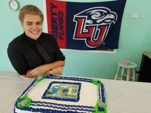 Zachary's high school graduation. He plans to attend online classes through Liberty University