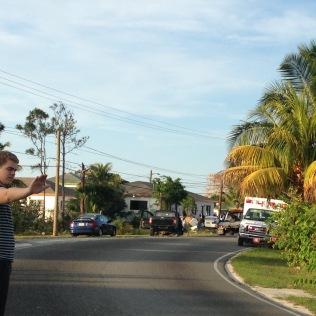Sunday afternoon car crash.
