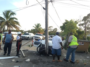 Another angle of the Sunday afternoon crash.